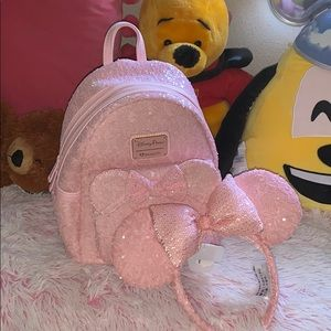 Loungefly Millennial Pink Backpack with Ears